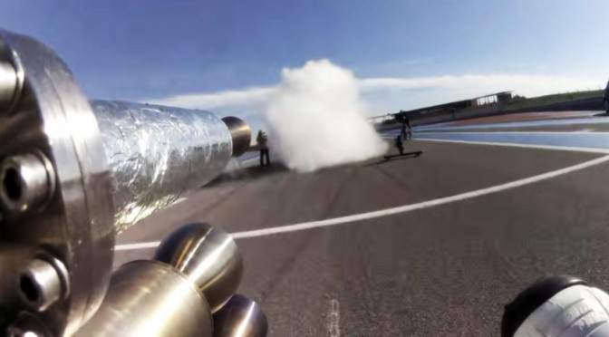 "Francois Gissy Sets a New ""Bicycle"" World Speed Record"