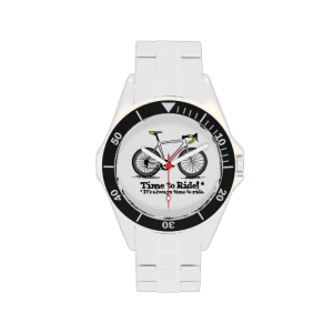 Custom cycling watch, stainless steel