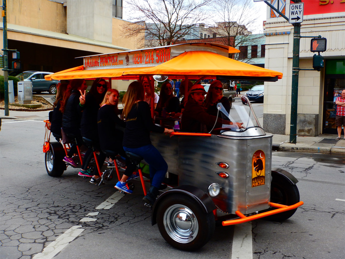 "The ""Amazing Pubcycle"" in Asheville NC"