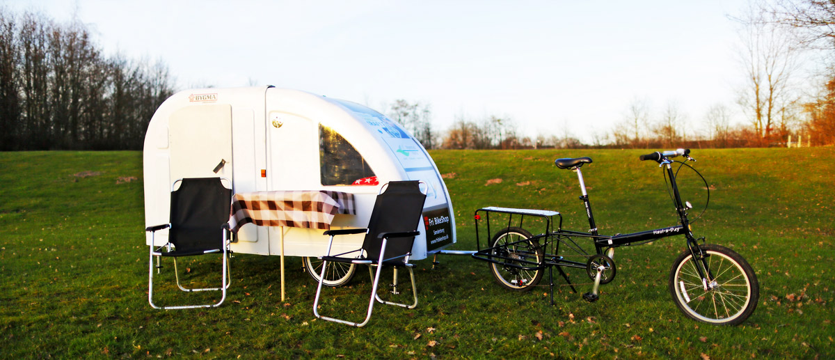 The Wide Path bicycle camper