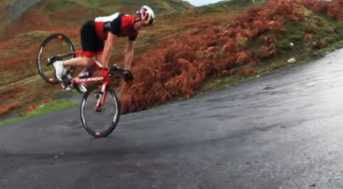 Crazy stunts on road bikes