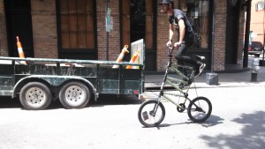 Crazy bicycle fit with high saddle