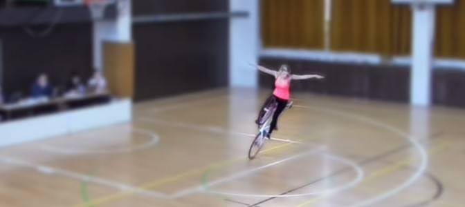 This Czech Woman Makes Your Wheelie Look Lame