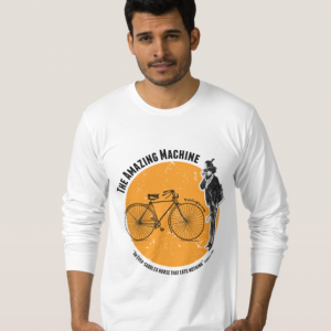 Cycling Tshirt with Striking Vintage Illustration
