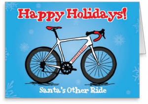 Cycling Christmas Card