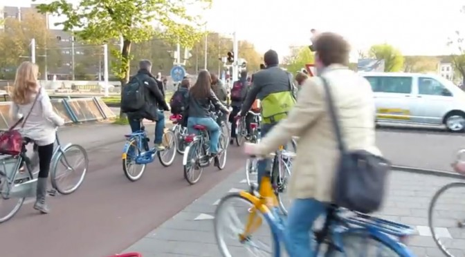 Cycling Rush Hour - Bicycle rush hour traffic in Utrecht Netherlands