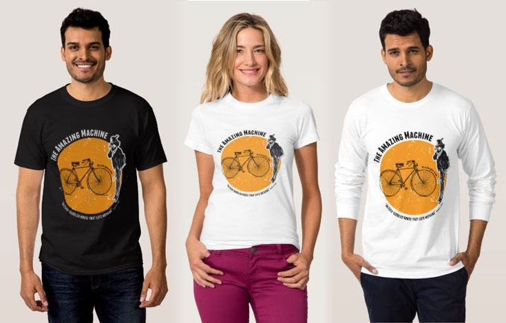 Cool Cycling Tshirt Design