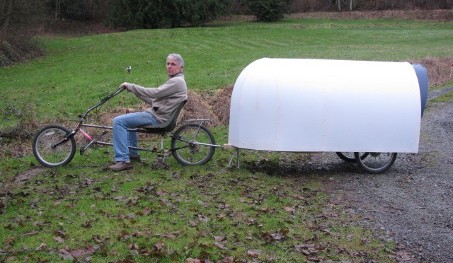 "The Micro ""Airstream"" Bicycle Camper That's Fully Loaded"