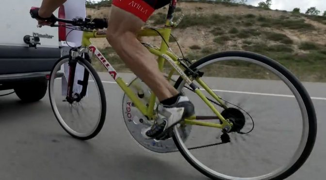 Attila Atay Training for the Cycling Speed Record