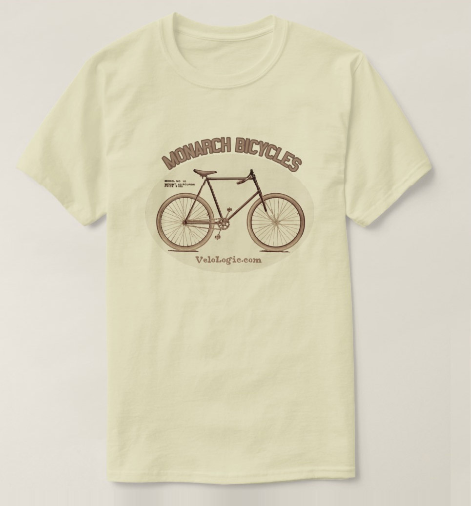 "Vintage Cycling Tee Shirt ""Monarch"""