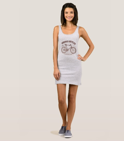 Ladies Tank Dress with Cycling Design