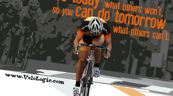 Inspiring Cycling Art: Motivational Poster