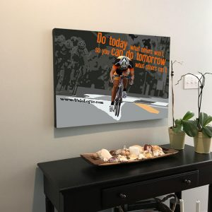 Bicycle Racing Cycling Poster Quote